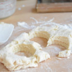Cream Scones cut out of dough