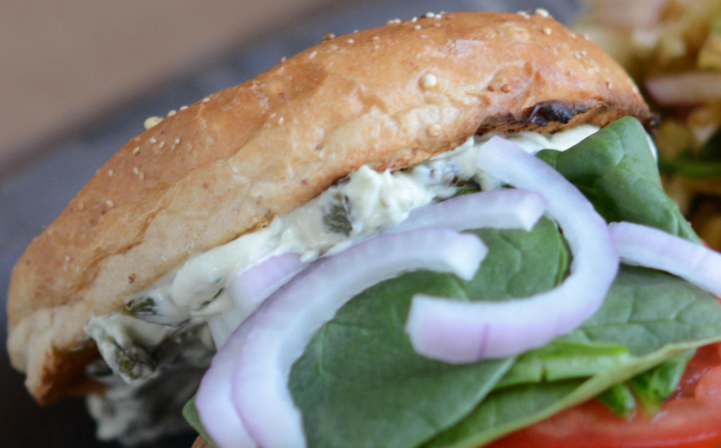 Satay Burgers with Roasted Poblano Sauce