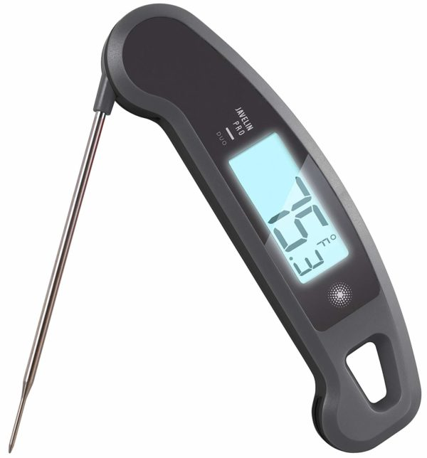 photo of digital thermometer