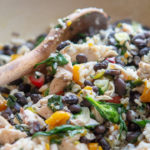 Chicken and Black Bean Skillet with Brown Rice