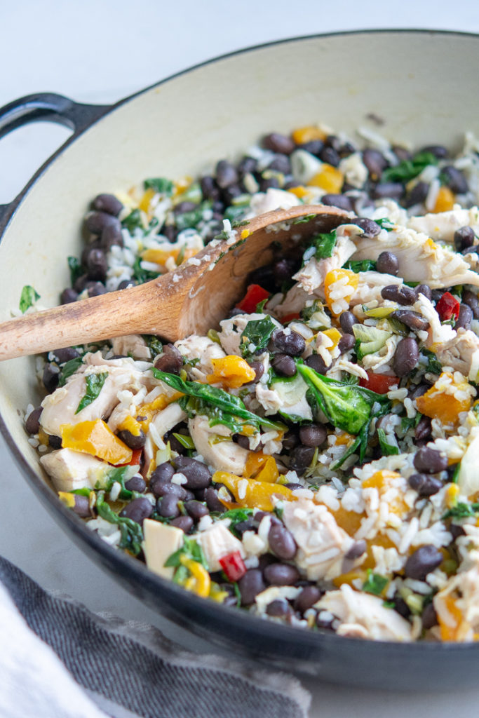 Photo of Chicken and Black Bean Skillet with Brown Rice