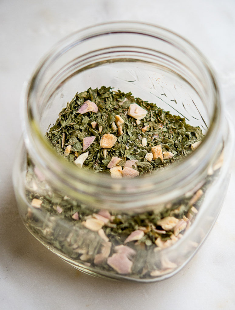 Homemade Ranch dry Dressing Mix in a jar