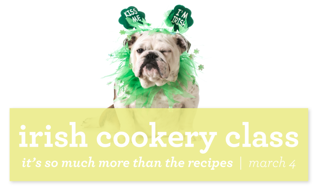 irish cookery ad with bull dog