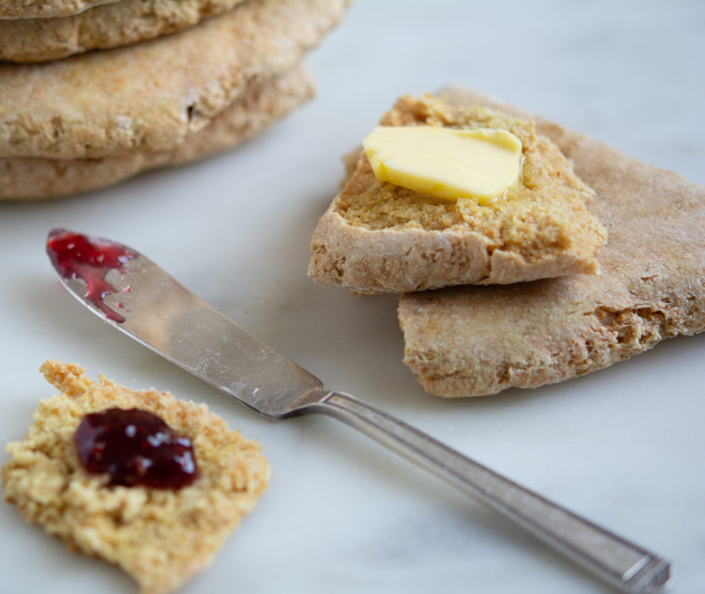 Irish Soda Farls with jam and butter