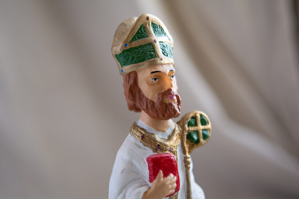 statue photo of st. Patrick bobblehead