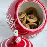 Almond Butter Bloosom Cookie photo in a holiday cookie jar