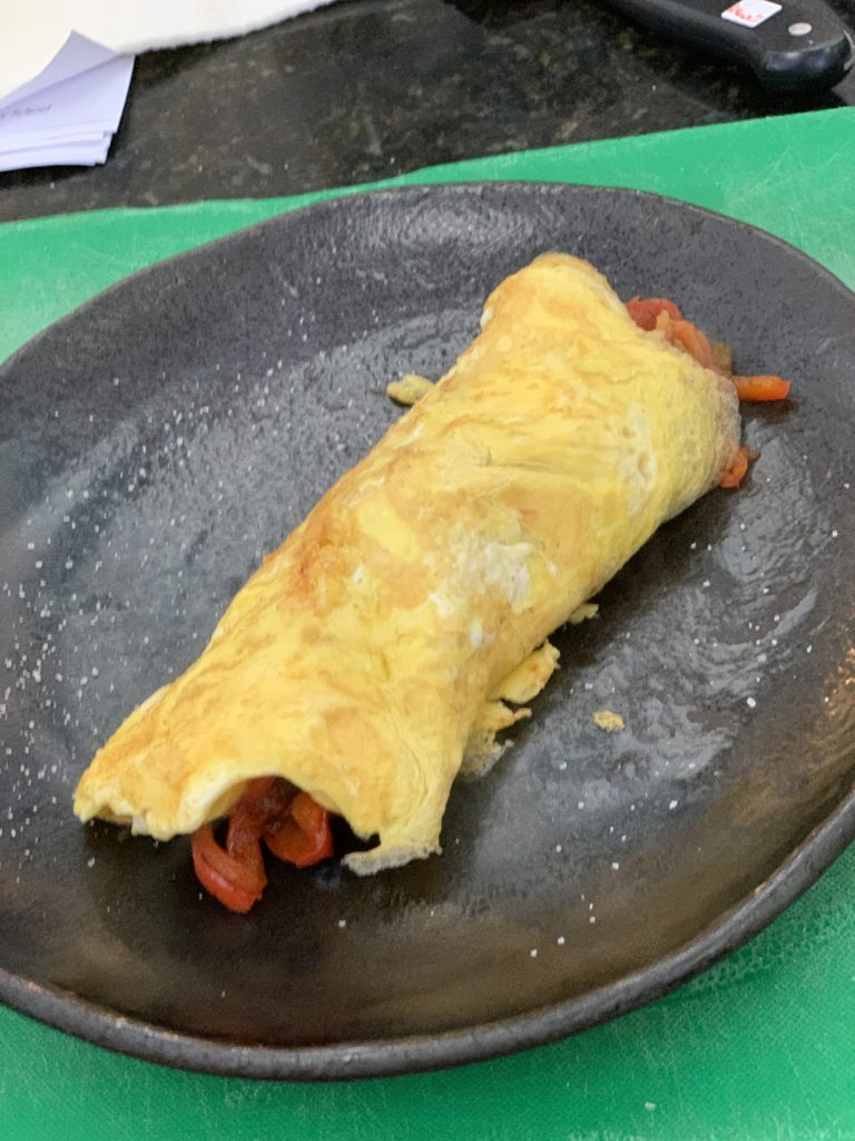 photo of an omelet