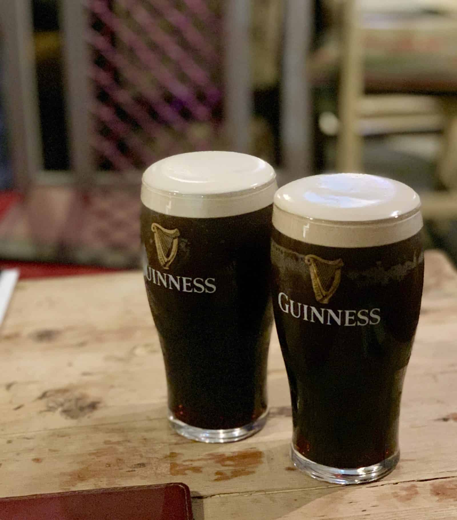 photo of two happy Guinness