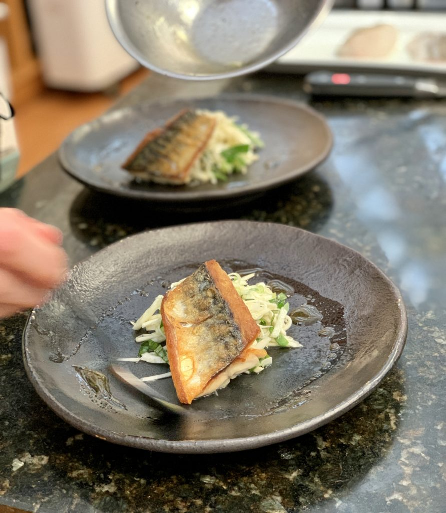mackerel  with fennel and celeriac salad
