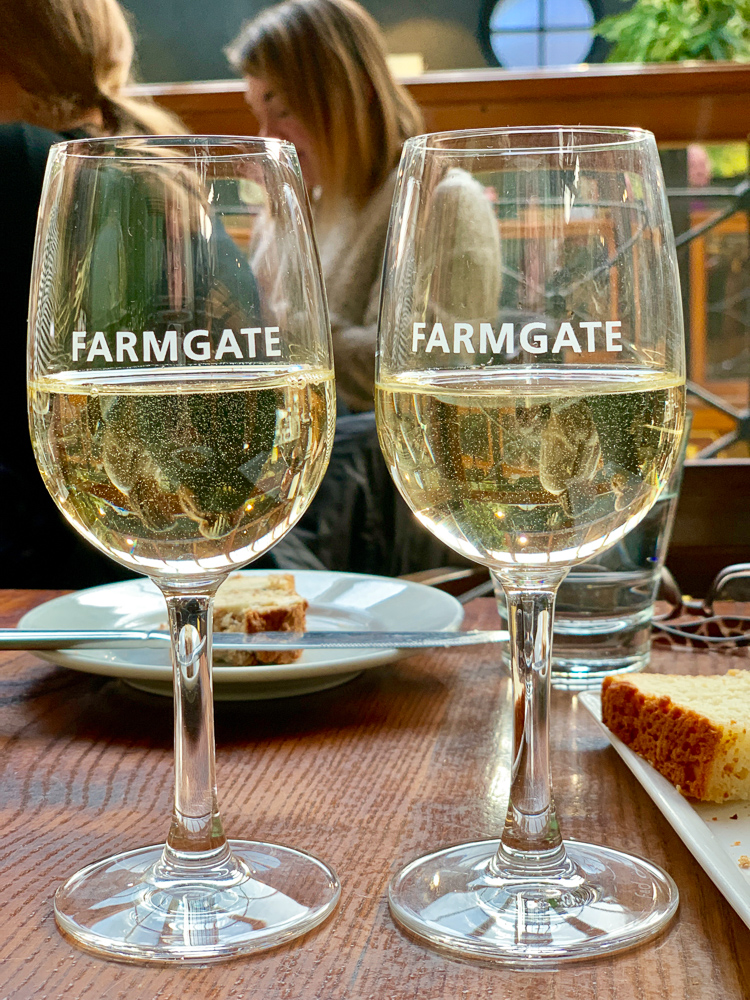 photo of our wine at Farmgate restaurant