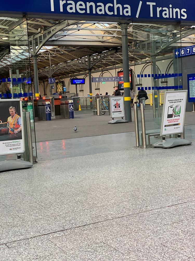 photo of Heuston station in Dublin