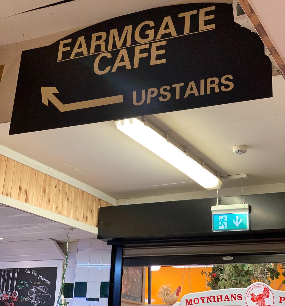 signage for farmgate restaurant