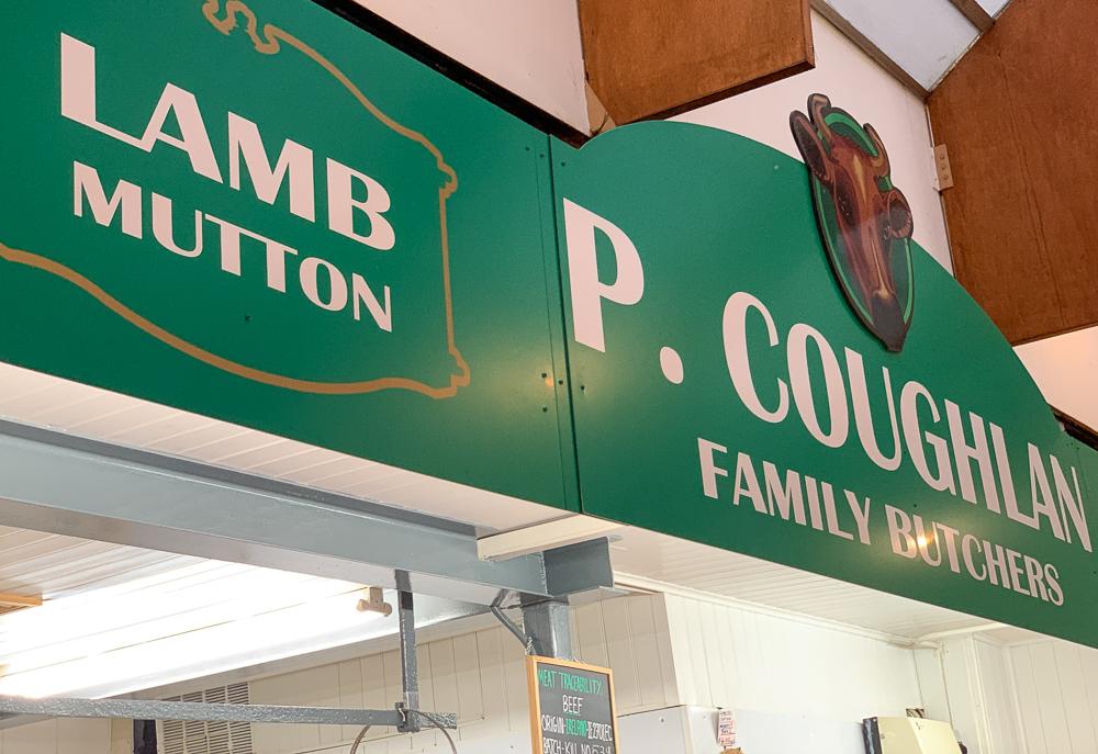 lamb shop signage at English market