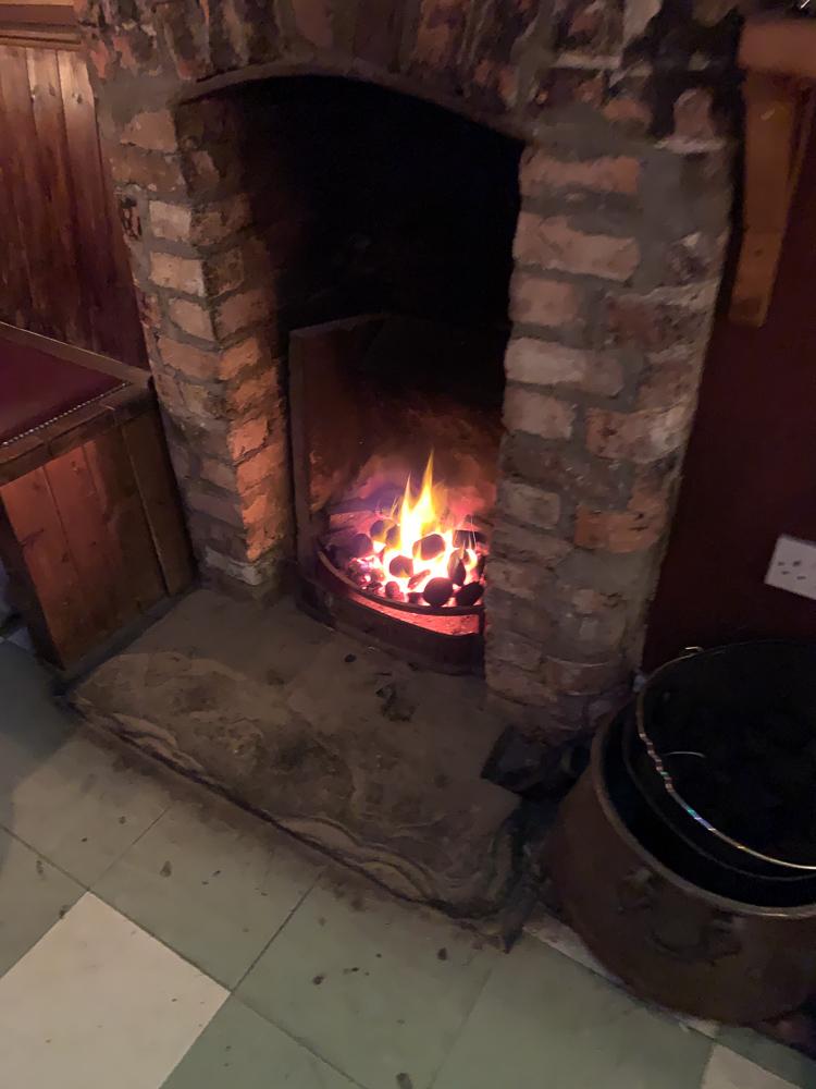 pub fireplace photo in cork, Ireland