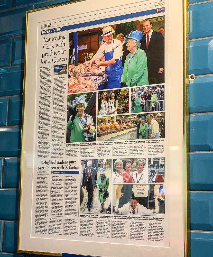 photo of newspaper clipping of Queen eLiz