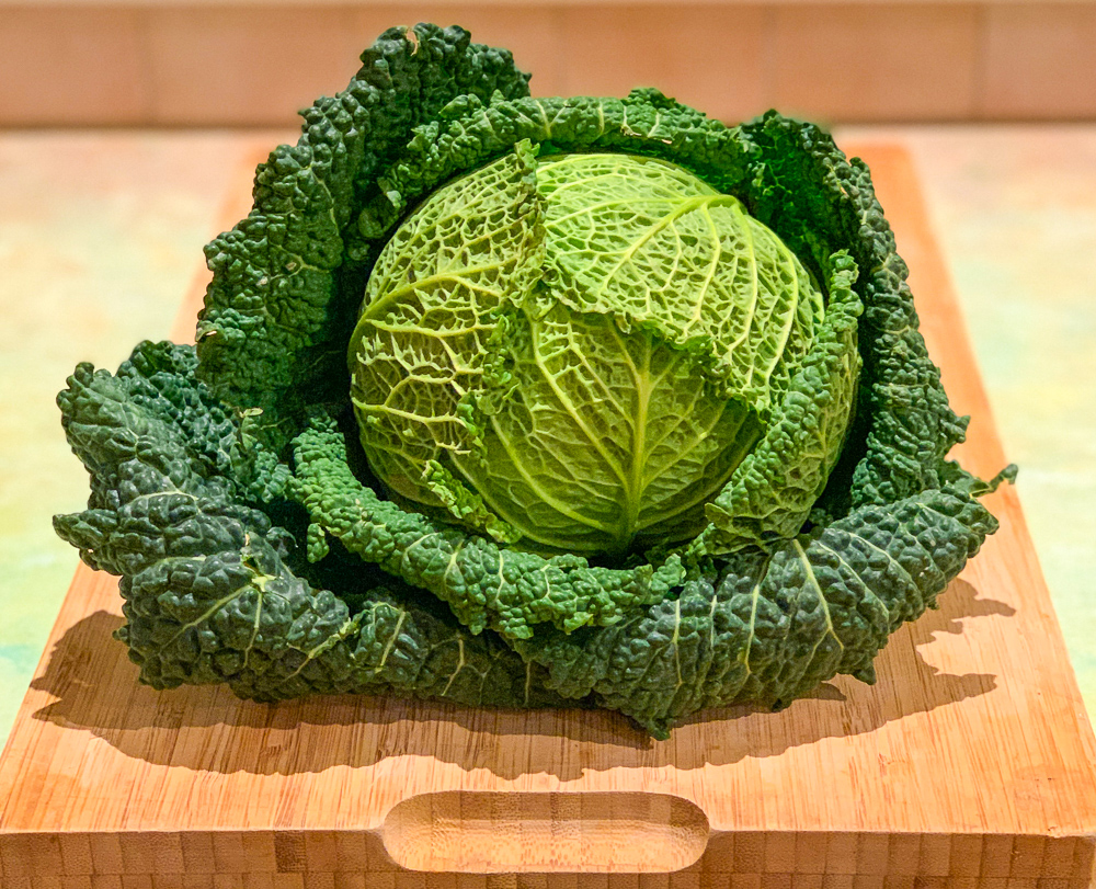 photo of a head of cabbage