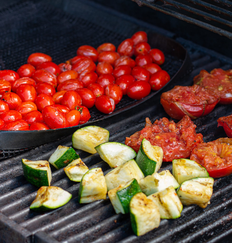 veg for Grilled Gazpacho on the grill