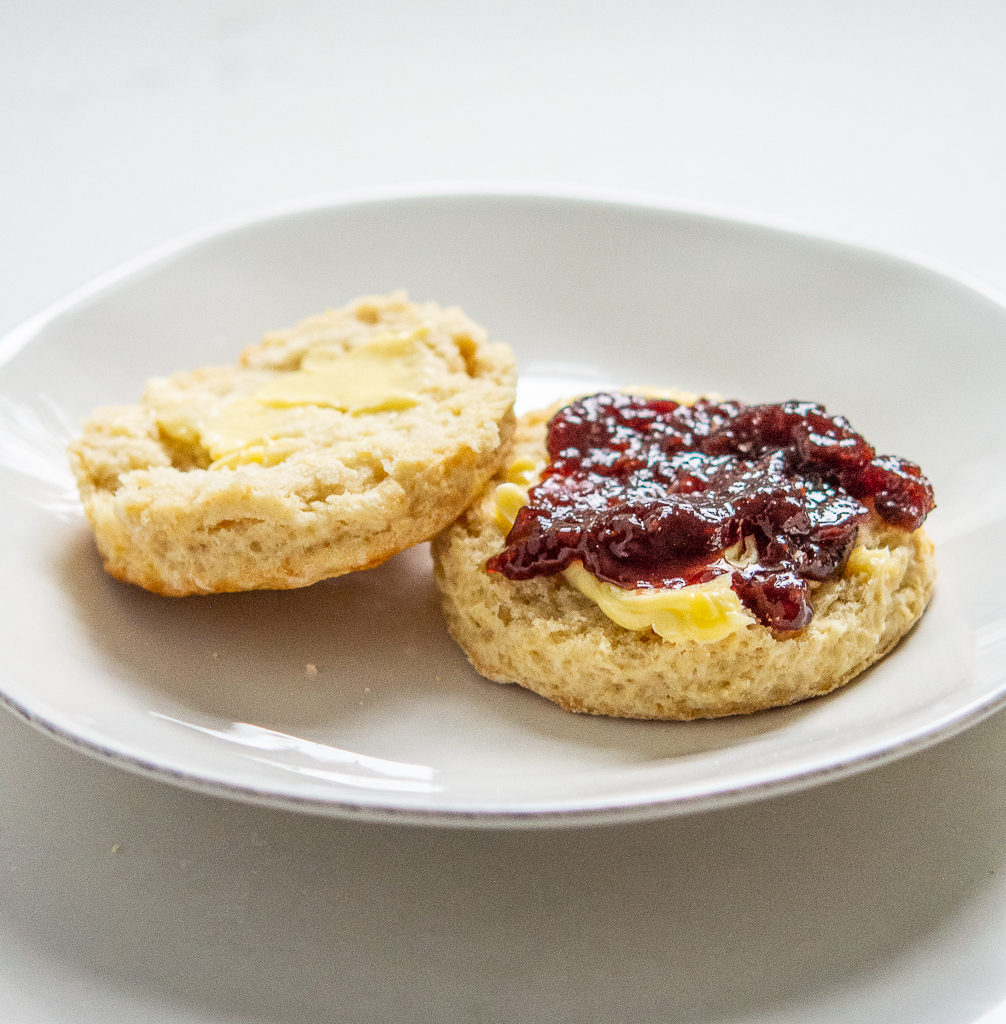 irish scones with butter and jam